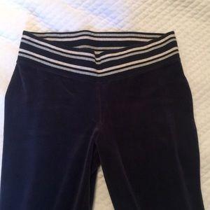 Victoria's sec navy velvet leggings Small